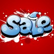 Christmas sale illustration. — Imagen vectorial