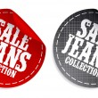 Sale Jeans collection stickers - Stock Vector