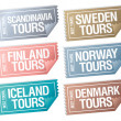 Travel stickers tickets. - Stok Vektör