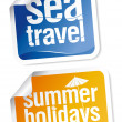 Travel stickers set — Stock Vector