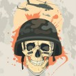 Stock Vector: Military design with skull.