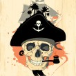 Royalty-Free Stock Vector Image: Pirate design with ghost skull.