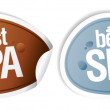 Best SPA stickers. — Stock Vector