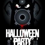 Halloween party design template. — Stock Vector #14204214