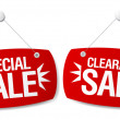 Royalty-Free Stock Vector Image: Sale signs.