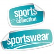 Stock Vector: Sportswear collection stickers