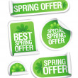Spring offers stickers. — Vector de stock  #14204276