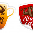 Strong coffee stickers. — Stock Vector