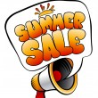 Summer Sale speech bubble. - Stock Vector