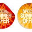 Summer offer stickers. — Stock Vector #14204421
