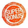 Super bonus stamp. - Stock Vector