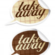 Take away stickers. — Stock Vector #14204462