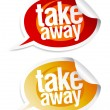 Take away stickers. — Stock Vector #14204471