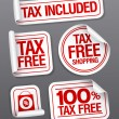 Tax free shopping stickers. — Vector de stock #14204477