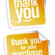 Thank you stickers — Stock Vector