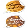 Royalty-Free Stock Vector Image: Happy Thanksgiving stickers.
