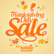 Thanksgiving Day sale. — Image vectorielle