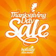 Thanksgiving Day sale. — Stock vektor