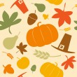 Autumn seamless background. - Stock Vector