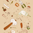 Illustraition of tools - Imagen vectorial