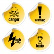 Stock Vector: Toxic stickers set
