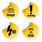 Toxic stickers set — Stock Vector