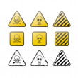 Set of toxic vector icons and stamps — Stockvectorbeeld