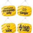 Danger vector signs — Stock Vector