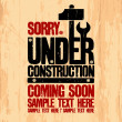 Under construction design. — Stockvektor