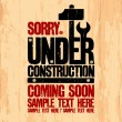 Under construction design. — Imagen vectorial