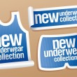 New underwear collection for men stickers. - Stock Vector