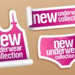 New underwear collection for women stickers. — Stock Vector
