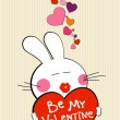 Vallentine bunny. — Stock Vector