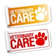Veterinary care stickers. — Stock Vector