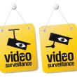 Video surveillance signs. — Stock Vector