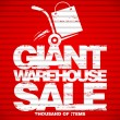 Giant warehouse sale design template. — Vettoriale Stock #14205046