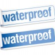 Waterproof stickers. - Stock Vector