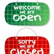 Open and Closed Signs — Stockvektor