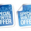 Stock Vector: Winter offer stickers.