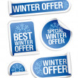 Stock Vector: Special winter offer stickers.