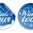 Christmas tour stickers. — Stock Vector