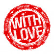 With love stamp. — Imagen vectorial