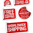 Stockvektor : World-wide shipping stickers.