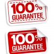Guarantee stickers. - Stock Vector