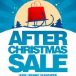 After christmas sale design template. - Stock Vector