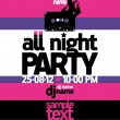 All Night Party design template. — Stock vektor #14206341
