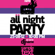 All Night Party design template. — Wektor stockowy  #14206341