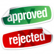 Approved and rejected stickers — Vector de stock  #14206355
