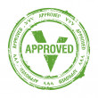 Approved stamp - Vektorgrafik