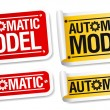 Stock Vector: Automatic model stickers.